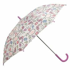 Hello KITTY CHILDS Paraguas Blanco/Rosa Brolly Parasol Rain Guard