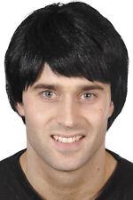 90er Jahre Buben Perücke schwarz NEU - Karneval Fasching Perücke Haare