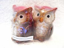 Owl Bird Salt And Pepper Shakers Ceramic Collectible Set Of Two