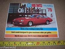 1975 Chevrolet Buick Pontiac CadillacGM USA American Car Brochure mint condition