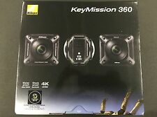 New Nikon Waterproof Wearable Camera Key Mission 360 BK Black 4K Wifi KeyMission