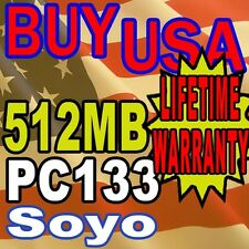 512MB SDRAM Soyo SY-P4VAL Version M PC133 MEMORY RAM