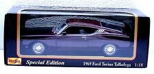 MAISTO 1969 Ford Torino Talladega Die-Cast Car Boxed 1:18 Scale Special Edition