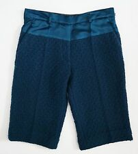 NWT HAIDER ACKERMANN Blue 100% WOOL SILK Bermuda Walking Shorts 40 W-31""