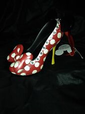 NEW DISNEY PARKS Minnie Mouse SHOE ORNAMENT CHRISTMAS HIGH HEEL