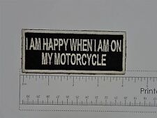 I'm Happy on my.... - Club Harley Biker Funny Motorcycle Iron On Small Patch