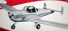 "Vintage ERCOUPE 45"" Berkeley RC / UC / FF Model Airplane PLAN + Scale Article"