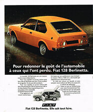 PUBLICITE ADVERTISING 015  1975  FIAT 128 BERLINETTA