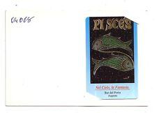 Carta telefonica Bar Del Porto Oroscopo Pesci