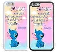 Disney hard case,cover for iPhone,iPod,Lilo And Stitch,quote,Ohana means family