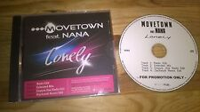 CD Pop Movetown ft Nana - Lonely (4 Song) Promo KLUBB STYLE  jc