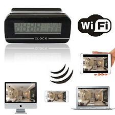 Wireless WiFi Spy Hidden Camera Digital Clock Video Recorder DV For PC iOS Phone