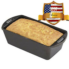 Lodge Home Seasoned Cast Iron Bread Loaf Pan Kitchen Baking Cookware MADE IN USA