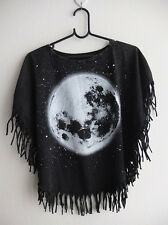 Full Moon Planet  Hippie Grunge Women's Short Poncho T-Shirt