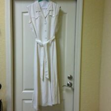BRAND NEW IVORY LINEN ESCADA DRESS, SIZE 36 or 6 (ORIG. $650)