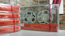 1 x  Vintage Retro Reel cassette tapes sealed C15 blank for audio copy LAST EVER