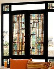 City Lights Decorative Window Film Midcentury Modern Stained Glass privacy cover