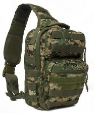 Military Style Tactical Conseal & Carry Sling Bug Out Go Bag Backpack Wdl Digitl