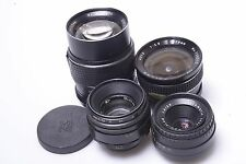 MEYER 50MM,PALLAS 28MM, PENTOR 135MM, ZENIT HELIOS 58MM, M42 LENSES. FOR REPAIR