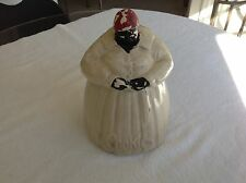 McCoy Black Americana Mammy Cookie Jar Antique Vintage Cream and Red Colors
