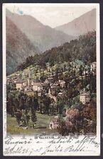 VERCELLI FOBELLO 48 VALSESIA Cartolina viaggiata 1908