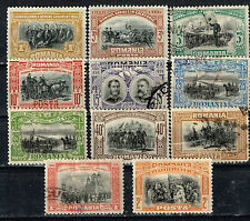 Romania King Carol 1 40th Ann War with Ottoman Empire classic set 1906 MLH/U
