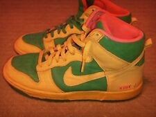 NIKE DUNK HIGH iD Yellow/Green/Pink Mens Size 9