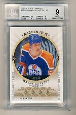 Wayne Gretzky 2015-16 UD Black Diamond Quad Diamond Relics Card 43/99 BGS 9 MINT