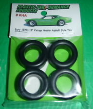 "NASCAR 1/25 70s 11"" HOOSIER TREADED Asphalt TIRES SET STOCK CAR MODEL PPP VHA"
