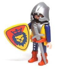 Playmobil Figure Castle Knight Beard Helmet Sword Lion Crest Shield 3268 3314