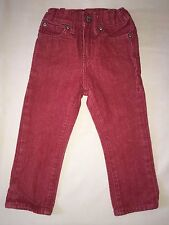 USED BOYS BABY GAP 2 YEARS RED WASH JEANS 1969