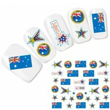 Tattoo Nagel Sticker Australien Flagge Fußball Flag Nail Art Water Decal