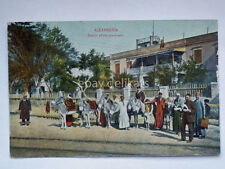 ALEXANDRIA station ass-drivers asino Alessandria Egitto Egypt old postcard