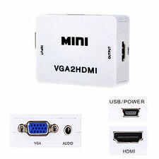 1080P VGA RCA to HDMI Video Audio Converter Adapter Box 3 Pcs Set For PC HDTV