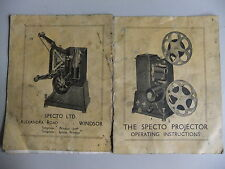 Instructions cine projector SPECTO - CD/Email