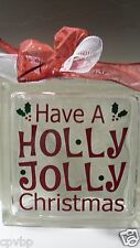 Have A Holly Jolly Christmas Decal Sticker for Glass Block DIY Crafts