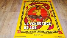 LA VENGEANCE DE LEE ! magnifique affiche cinema karate kung-fu 1973