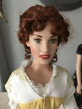 "FRANKLIN MINT TITANIC 16"" Vinyl Rose Doll in Yellow Strolling Ensemble NO STAND"