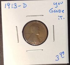 1913 D 1C Lincoln Cent