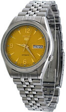 Seiko 5 SNK133 SNK133K Men's Jubilee Stainless Steel Gold Dial Automatic Watch