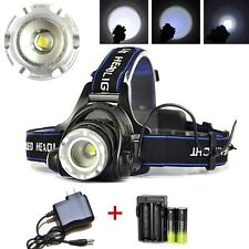 CREE XML T6 LED 8000LM 3-mode Zoom Rechargeable Headlight 18650BTY+C213+Charger