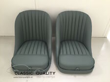 Pair of Fully Trimmed Fixed Aluminium Bucket Seats for Jaguar XK120 XK140 XK150