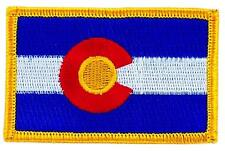 Patch écusson brodé Drapeau COLORADO  Thermocollant USA AMERICAIN ETATS UNIS