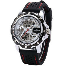 Winner Automatic Stainless Steel Skeleton Sports Watch - New
