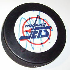 TIE DOMI WINNIPEG JETS SIGNED HOCKEY PUCK w/ COA