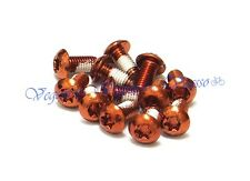 NEW MOWA DISC BRAKE ROTOR BOLTS SCREWS M5x10mm 12pcs, ORANGE