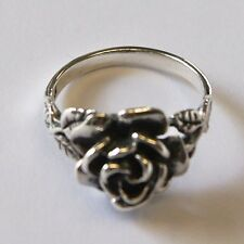HANDMADE ROSE RING 925 STERLING SILVER THAILAND  flower hill  Size.US=9/R