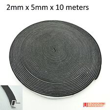 Weather Stripping Sponge Rubber Seal Strip EPDM Tape Door Seal 2 x 5mm x 10m