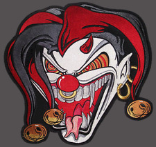 Killer Clown Jester Harlekin  Patch Backpatch XL 25x24cm Old School Rockabilly