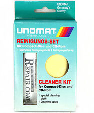 Productos de limpieza para Set CD DVD Blu-ray Disk Unomat cs-11 CD Cleaner kit nuevo